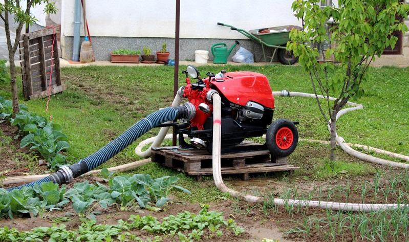 Durch einen angebrachten Druckschalter ist die Gartenpumpe sicherlich ein wenig klobiger und unhandlicher. Dieser Fakt ist jedoch zu vernachlässigen, da niemand mit der Pumpe hantieren muss.