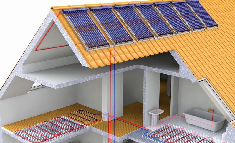 Experten sind sich einig: Die Solarthermie kommt sehr nahe an das Ideal einer Heizung heran, die völlig CO2-neutral arbeitet.  ( Foto: Shutterstock- Costazzurra)