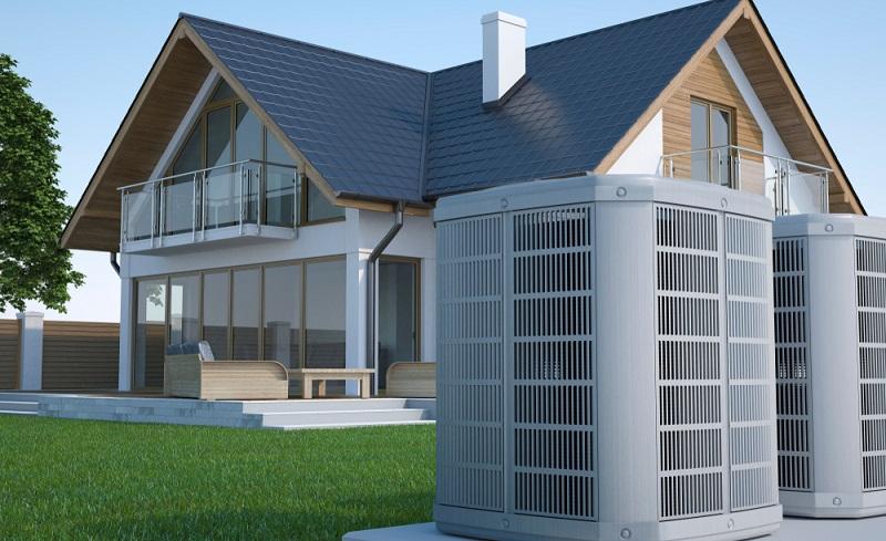 Eine Wärmepumpe zieht die benötigte Energie aus der Umgebung und macht diese durch Umwandlung zu Strom für sich nutzbar. (Foto: Shutterstock- Studio Harmony )